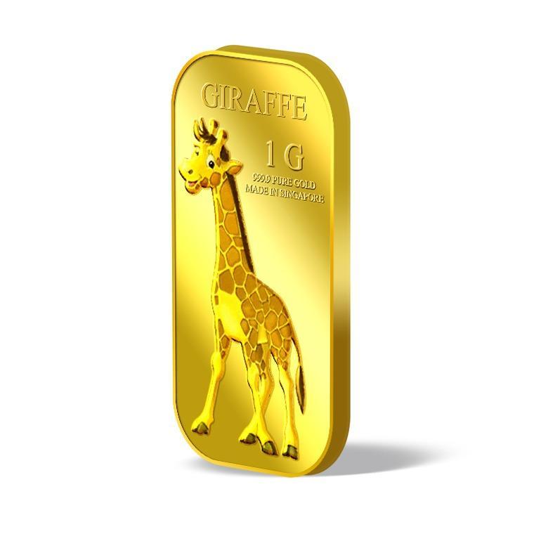 Low Cost Puregold 1G Male Giraffe Gold Bar 999 9