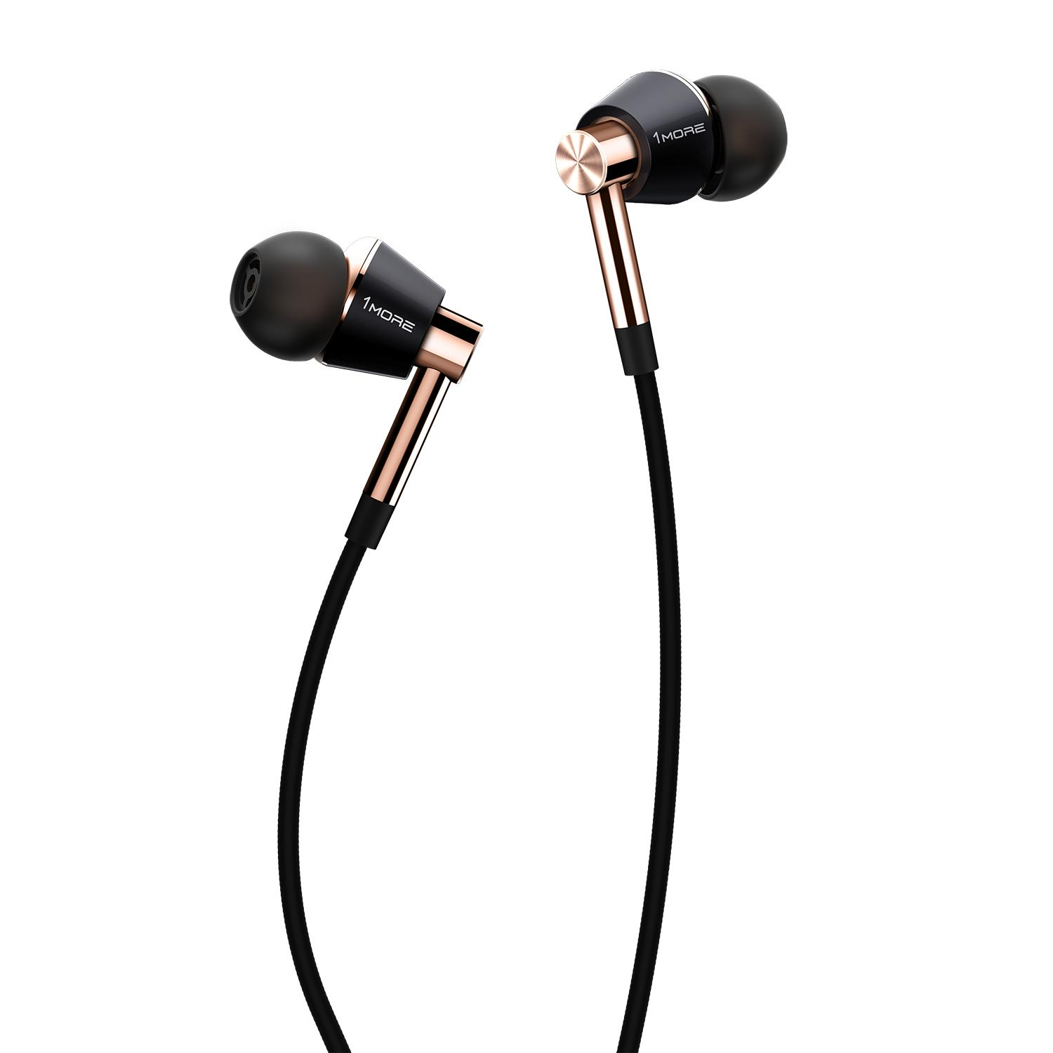 Review 1More E1001 Triple Driver In Ear Headphones With Apple Ios And Android Compatible Microphone And Remote On Singapore