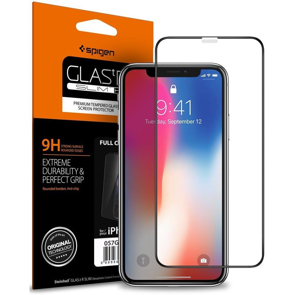 Price Compare Spigen Iphone X Screen Protector Glass Full Cover