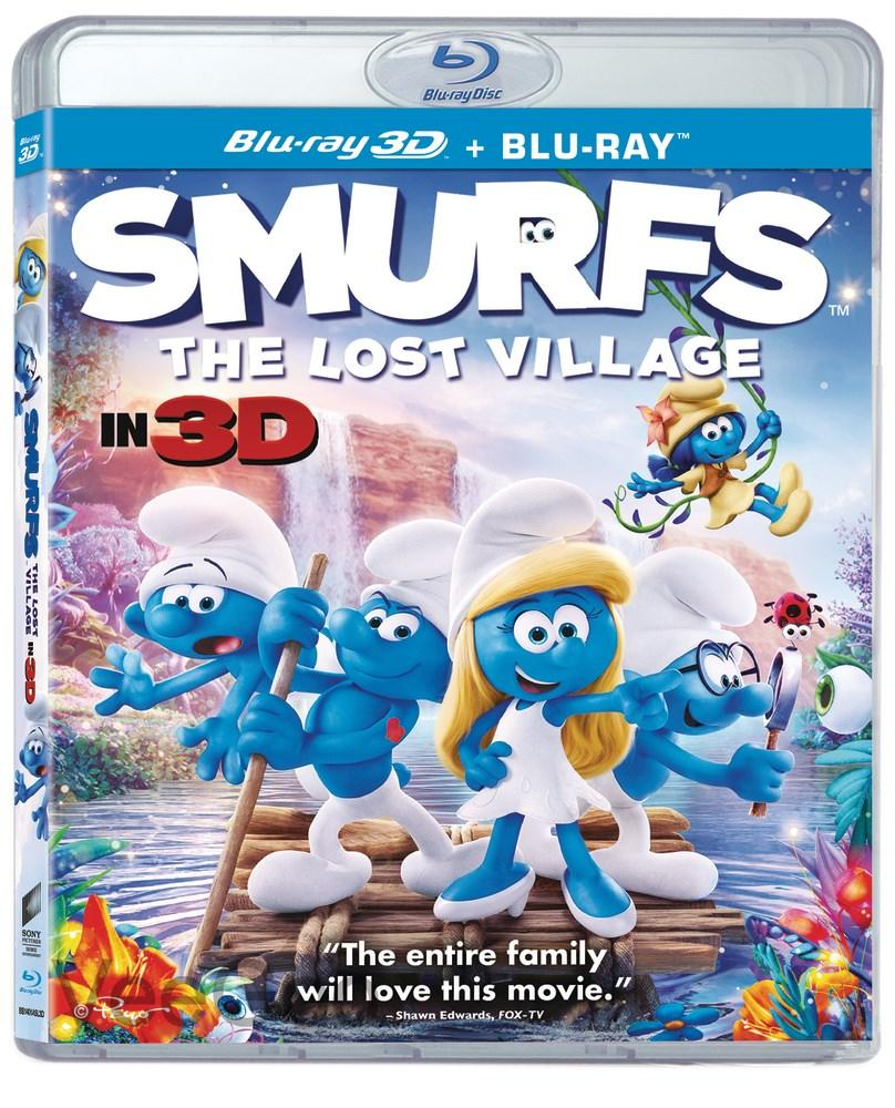 SMURFS THE LOST VILLAGE 3D + Blu-Ray (PG/RA)