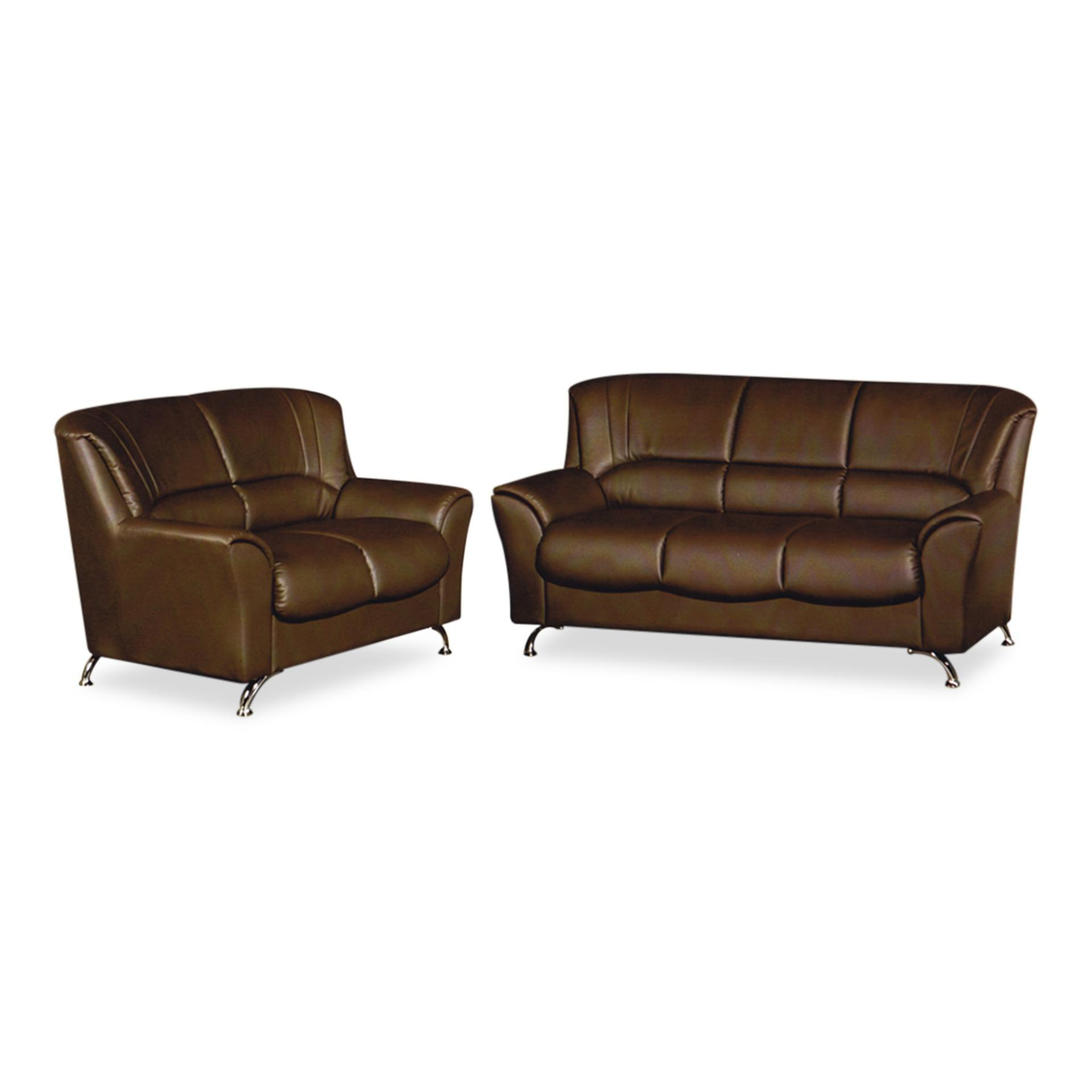 Ashley PVC 3+2 Seater Sofa (FREE DELIVERY)(FREE ASSEMBLY)