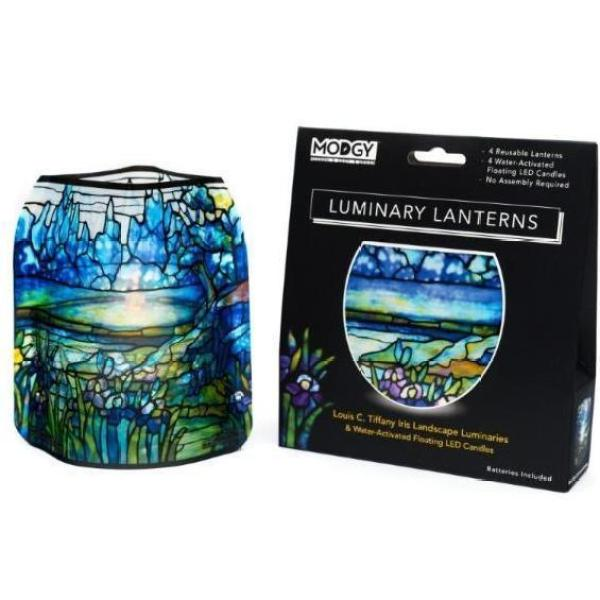 Modgy Luminaries: Louis C. Tiffany Iris Landscapes