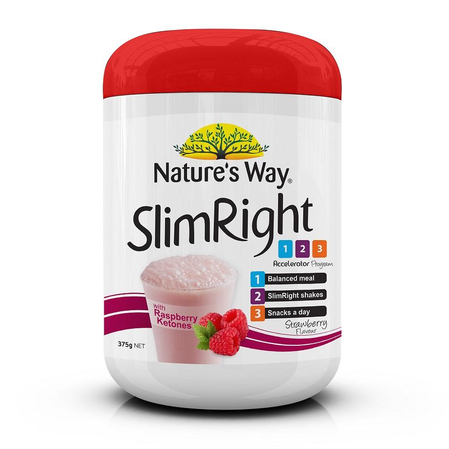 Natures Way Slimright Strawberry Shake 375g May 2020 By Australia Health Warehouse.