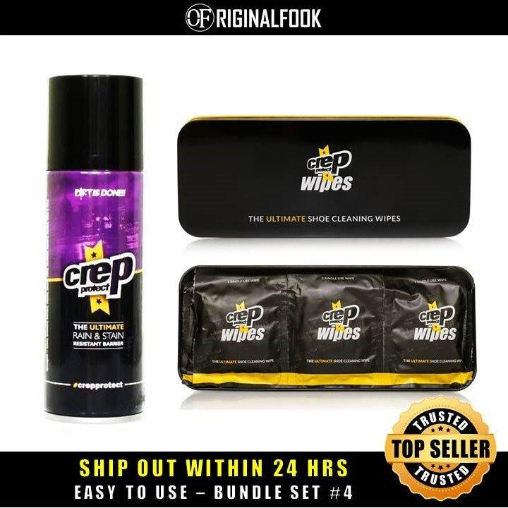 Review Hot Sale Crep Protect Shoe Care Bundle Set 4 Crep Protect On Singapore