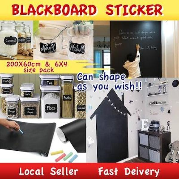 BLACKBOARD STICKER CHALKBOARD WALLPAPER STICKER WALL OFFICE CHALK