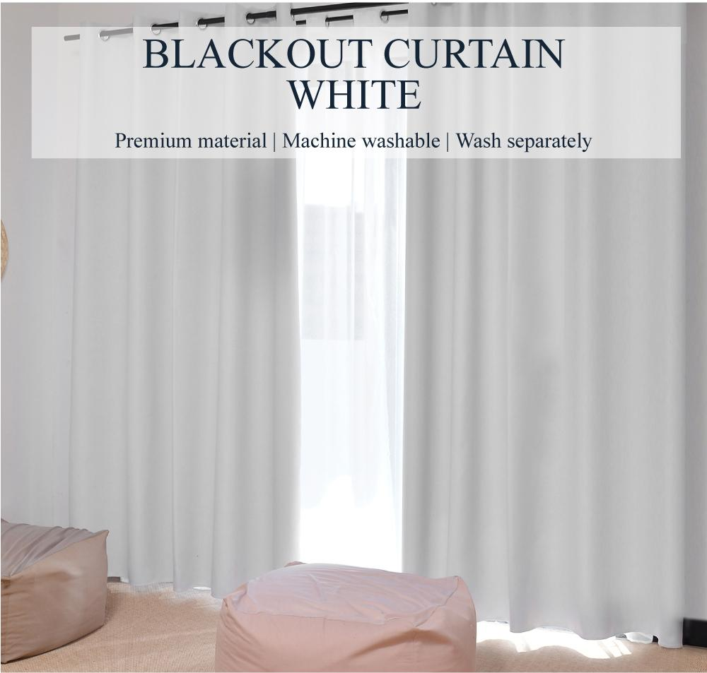 SOL HOME ® 2pcs x 130cm x 180cm (w x h) - Eyelet - SIZE S - 99% Blackout Curtains / Blockout Curtains by ShopOnlineLah