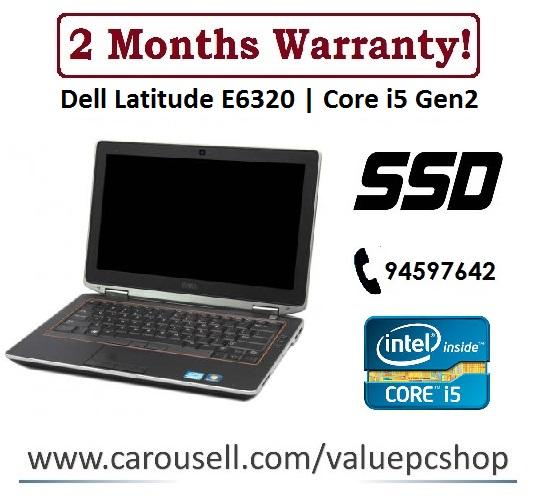 Speedy SSD Core i5: Dell E6320/ 4GB RAM/ 120GB SSD (Refurbished Laptop notebook)