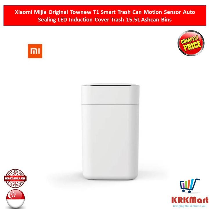 Xiaomi Mijia Original Townew T1 Smart Trash Can Motion Sensor Auto Sealing Led Induction Cover Trash 15.5l Ashcan Bins By Krkmart.