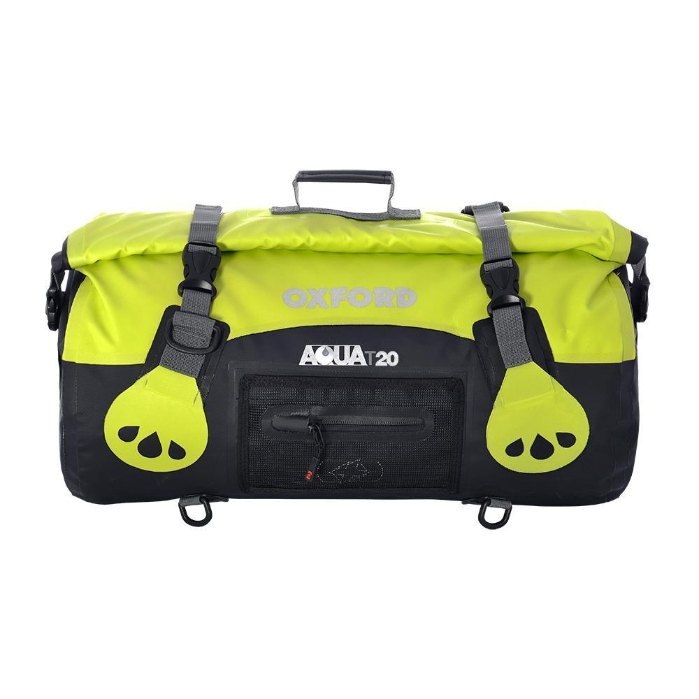 Oxford Aqua T-20 Roll Bag - Black/Fluo