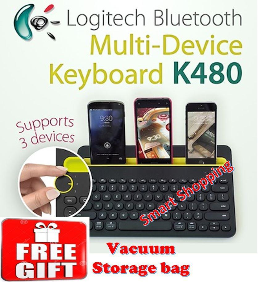 Logitech Multi Device Keyboard K480 Black or white Singapore