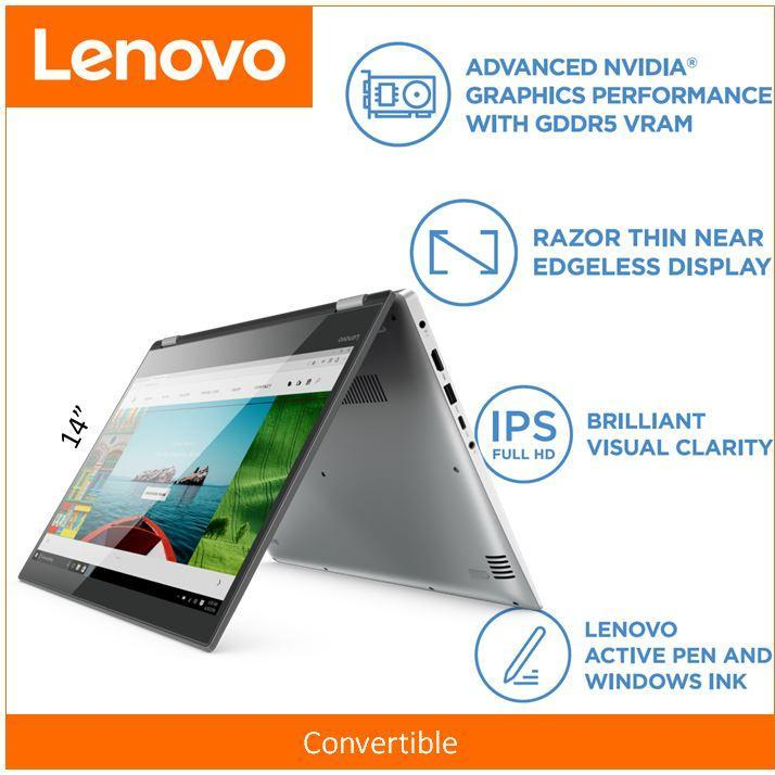 LenovoIdeaPad YOGA 52014.0 FHD i7-8550U GOLD 2 Year Local Warranty