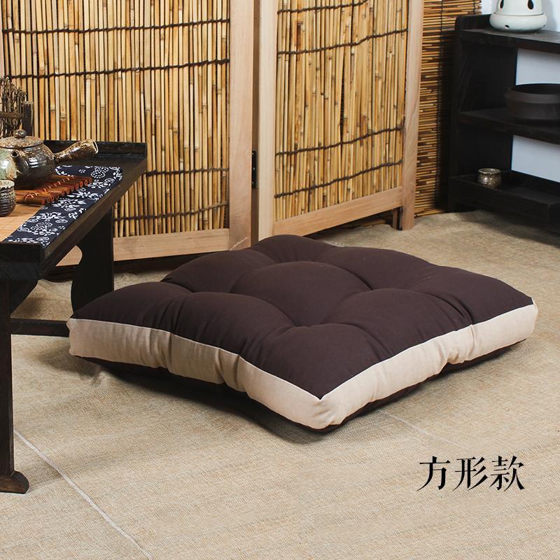 Meditation linen Japanese throw pillow futon.