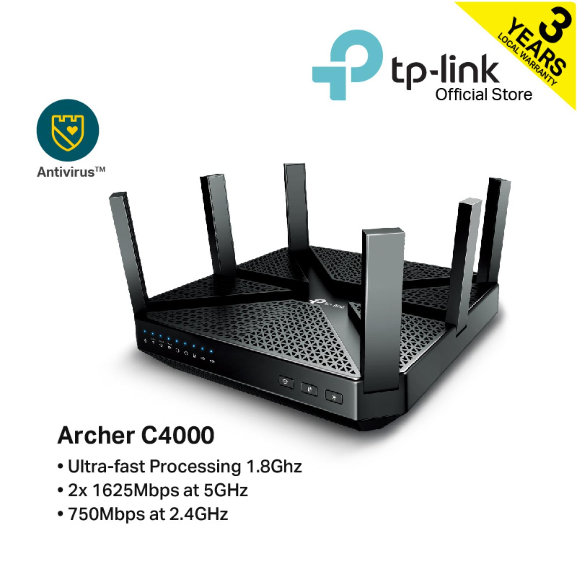 Tp-Link Ac4000 Mu-Mimo Tri-Band Wi-Fi Router Archer C4000 By Tp-Link Official Store.