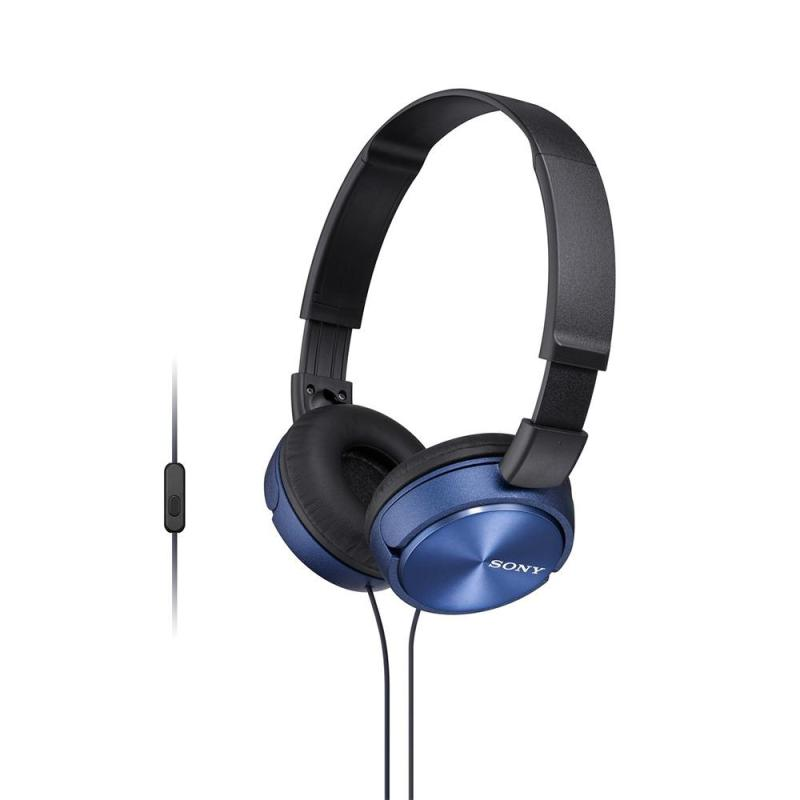 Sony Singapore MDR-ZX310AP On-ear Headphone with Mic (Blue) Singapore