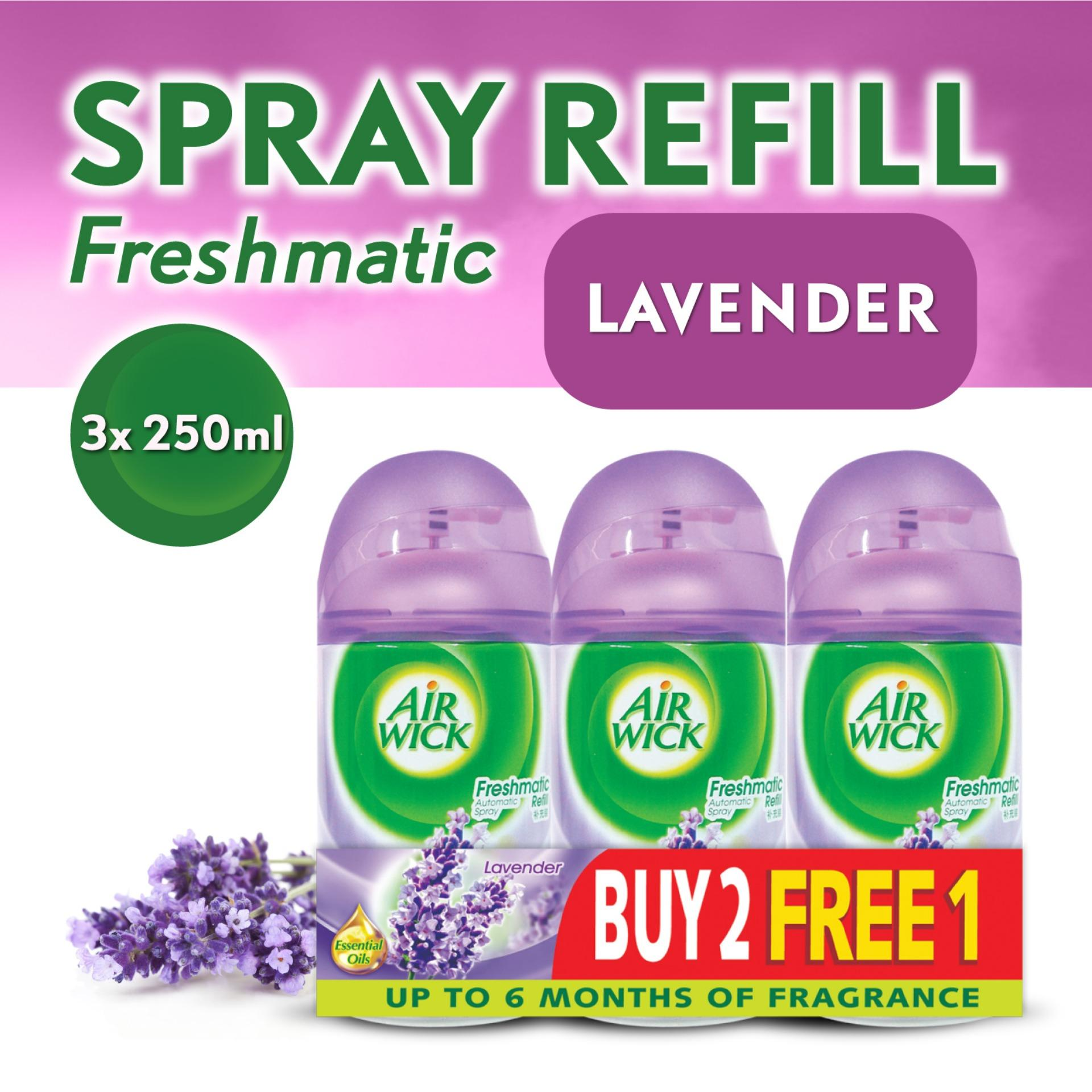 Airwick Freshmatic Lavender Refill Triple Pack  (Buy 2 Free1 ) Air Care / Freshener
