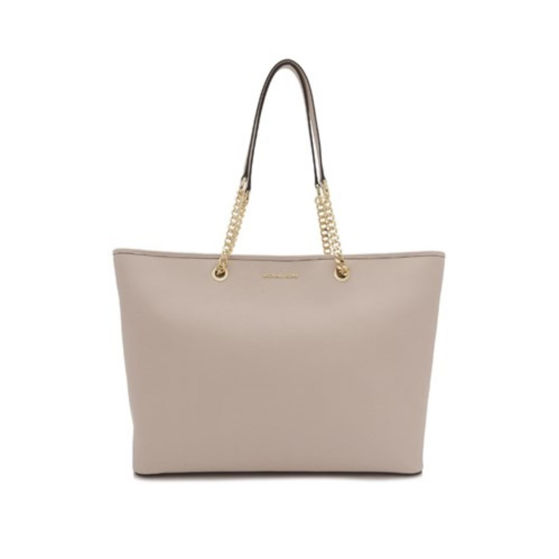 27be8e01a454 Michael Kors Jet Set Travel Chain Medium Top Zip Multi Functional Tote Bag  (Soft Pink