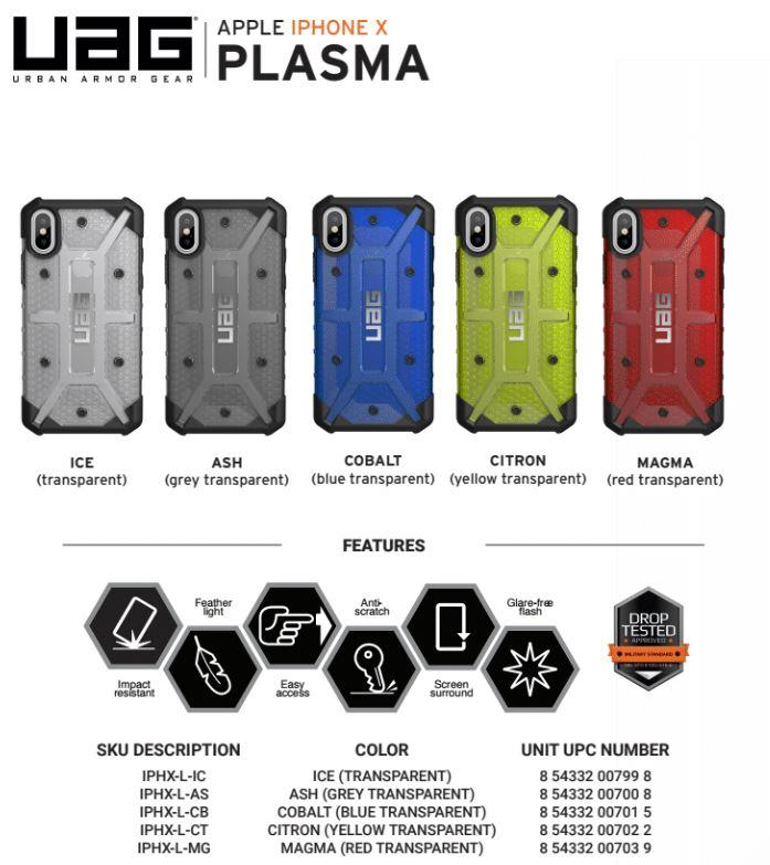 sports shoes c9af3 d9598 UAG PLASMA SERIES IPHONE X CASE Compatible with iPhone Xs / iPhone X  (5.8-inch)