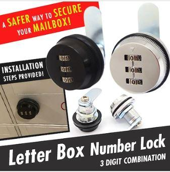 ★sg Local★genuine★premium★hdb Keyless Mail/letter Box Lock ★ Keyless Cabinet Lock ★ Number Lock By Young And Shine.
