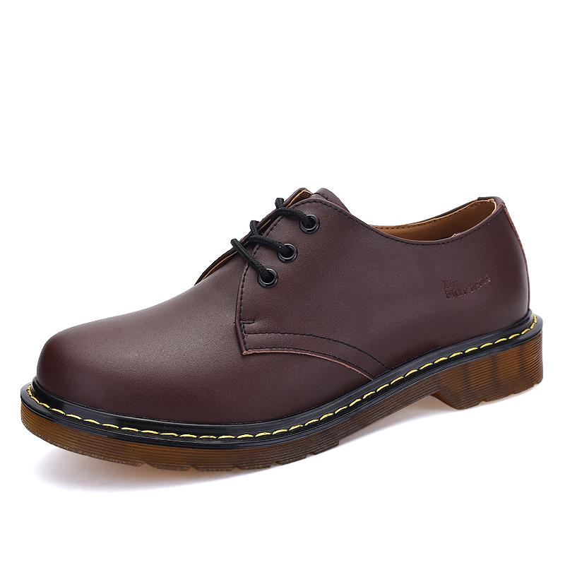 Top 10 Fashion Classic England Martin Shoes Round Oxford College Lacecasual Shoes Vintage Couples Martin Shoes Men Women Leathershoes Ready Stock Black Size35 44 Intl