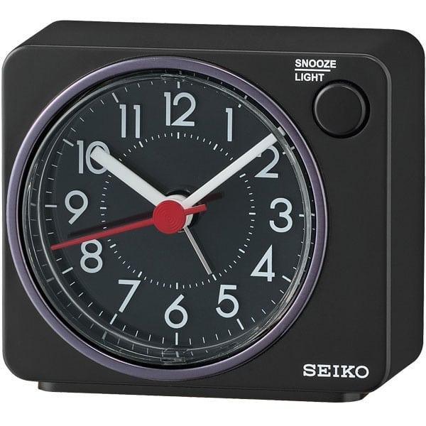 SEIKO QHE100K QHE100KN Digital Black Matr Color Black Dial Bedside Alarm Clock