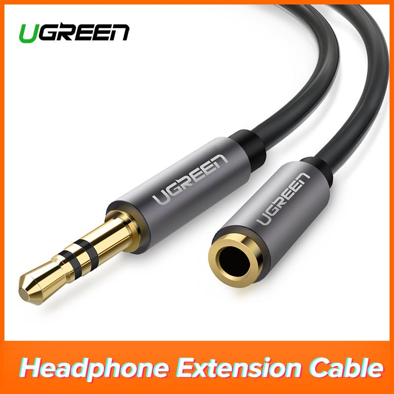 UGREEN 2Meter 3.5mm Male to Female Extension Stereo Audio Extension Cable Adapter Gold Plated Compatible