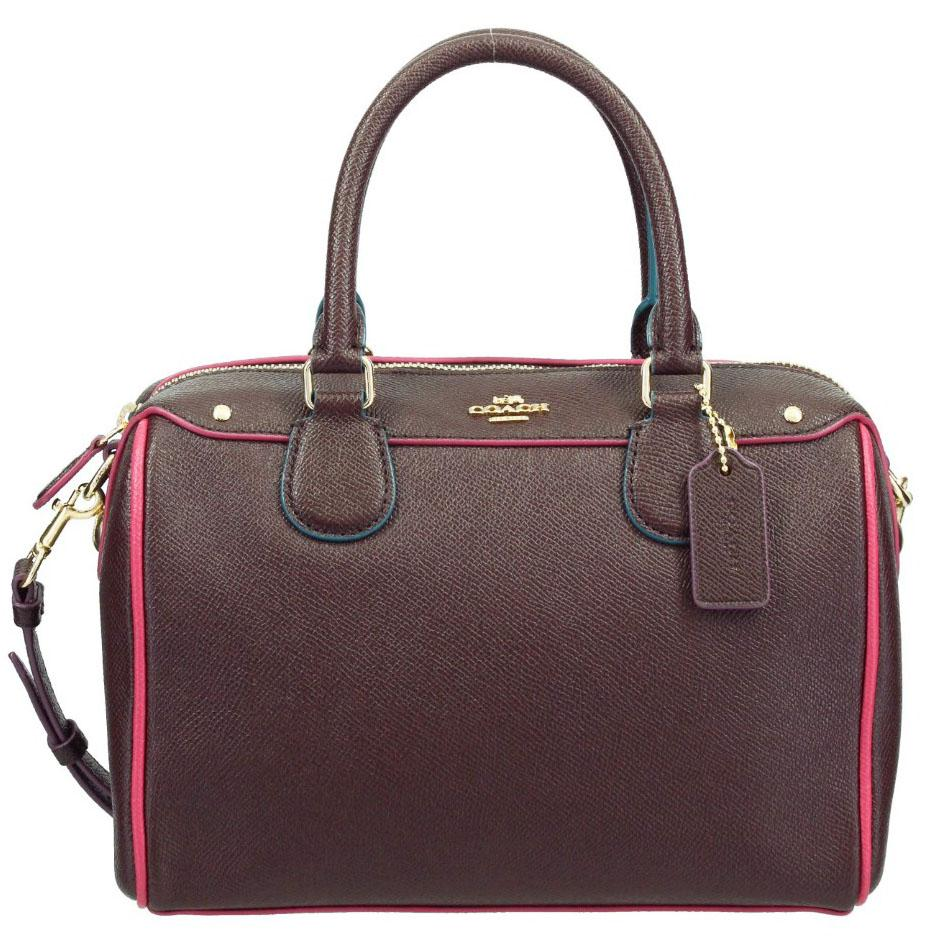 45aebb467e Coach Mini Bennett Satchel With Edgepaint Handbag Oxblood Red Multi    F22237 + Gift Receipt
