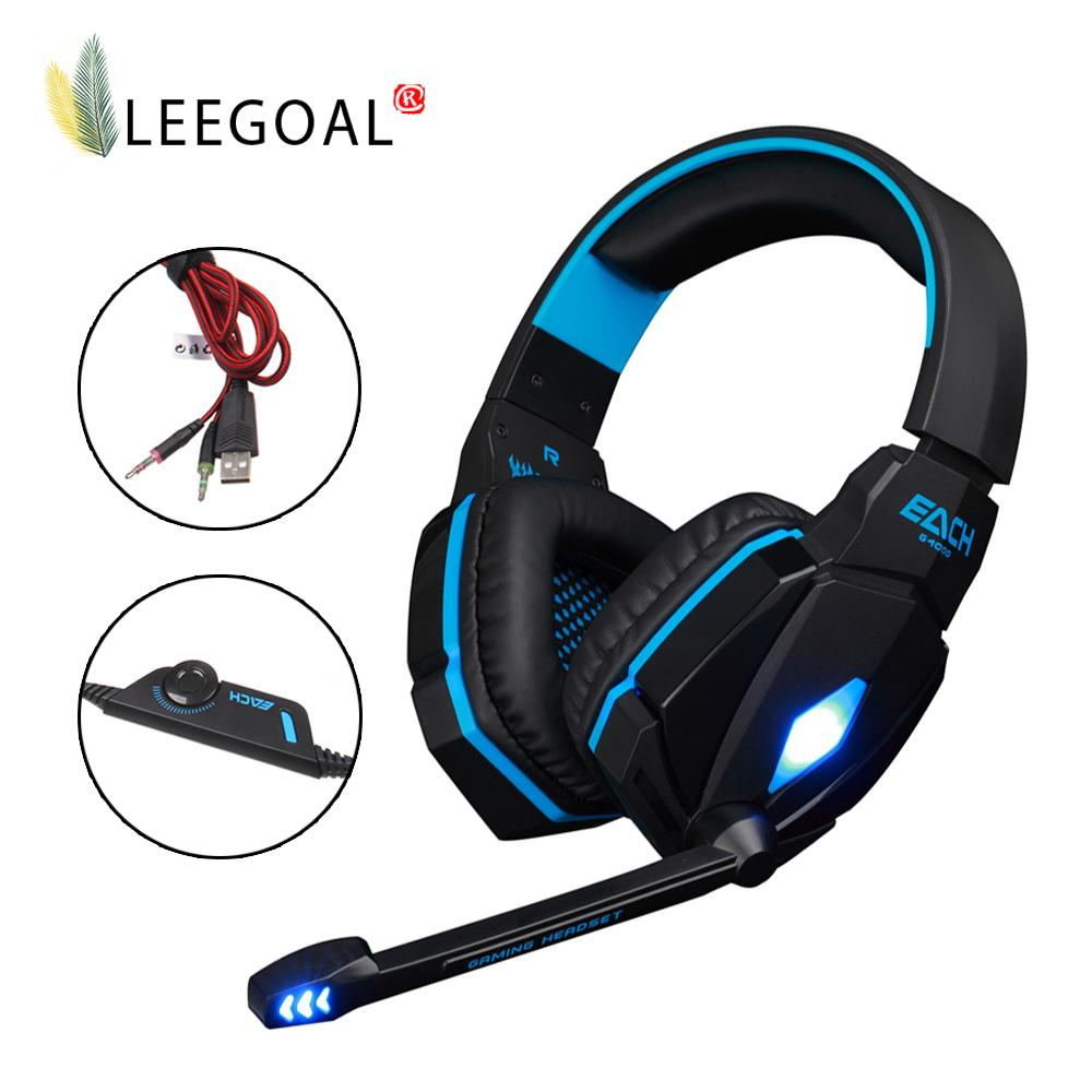 Leegoal Professional PC/Phone Gaming Stereo Headset Noise Cancelling Headphones With Microphone - intl