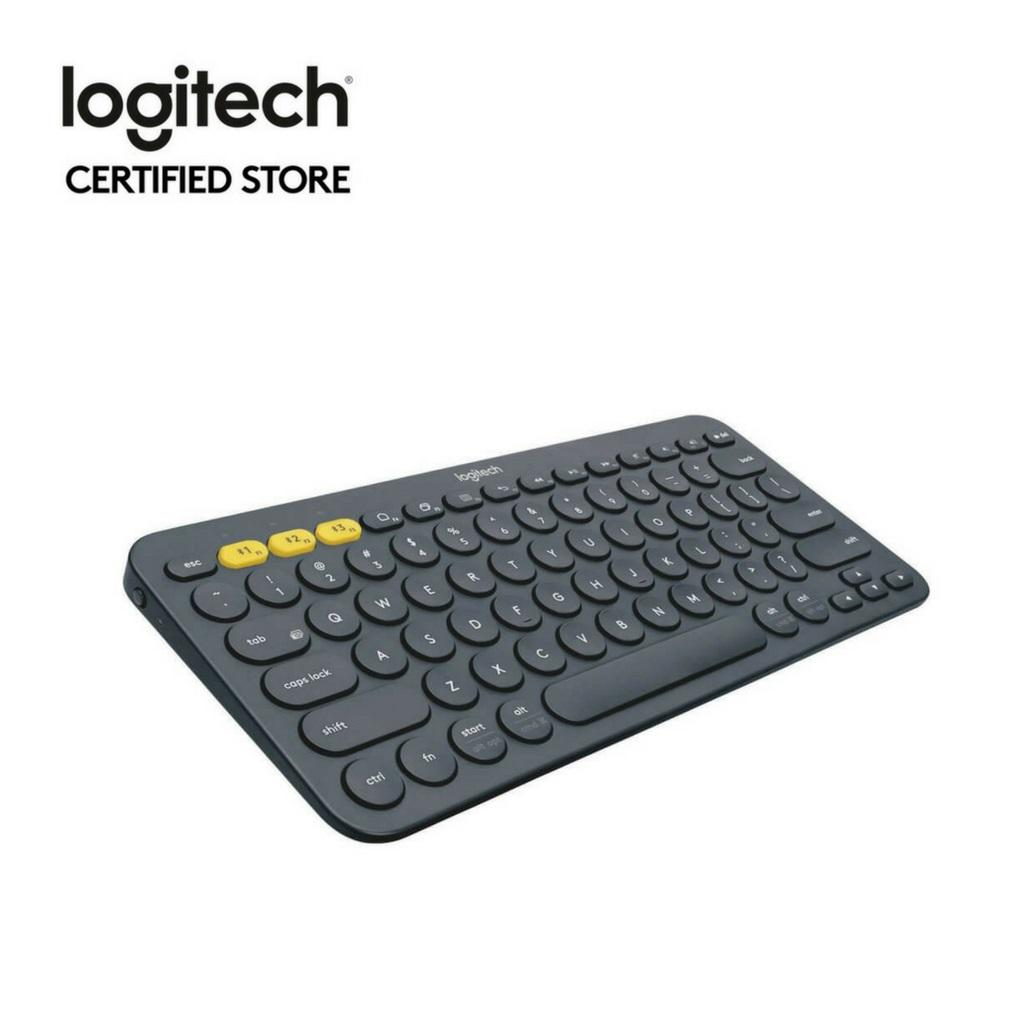 Logitech K380 Black Slim Multi-Device Bluetooth Only Keyboard (iOS,  Android, OSX, iPhone) with Logitech FLOW Technology