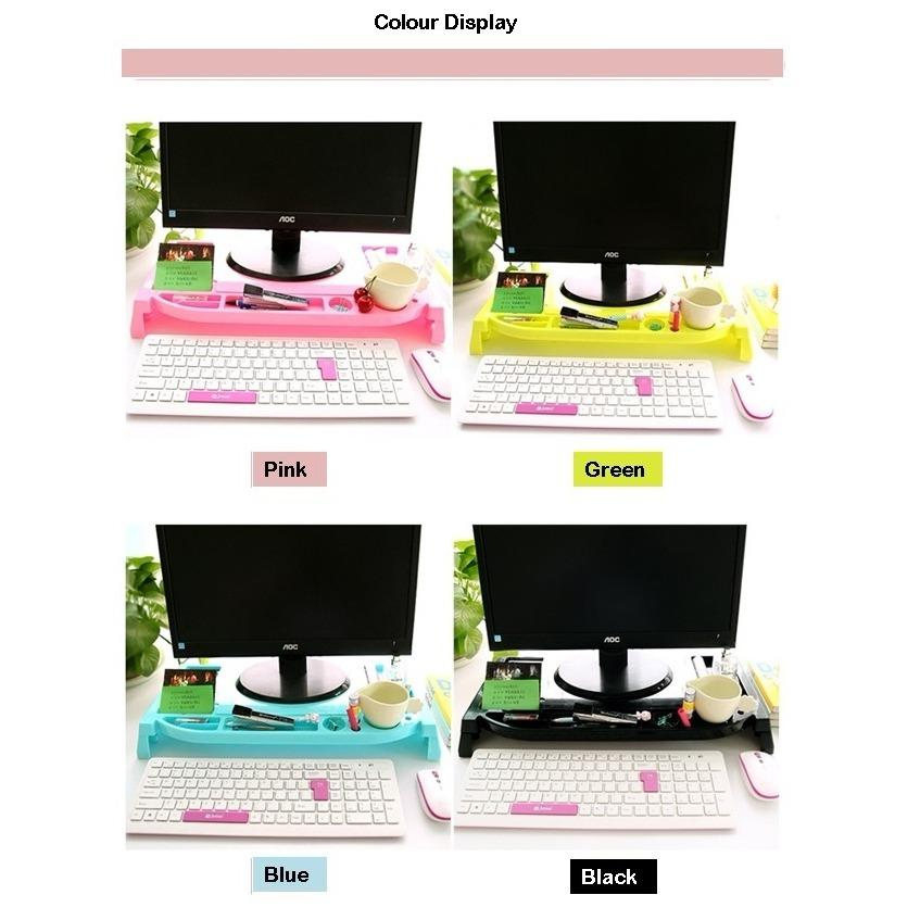 Plastic Monitor Riser Ergonomic Stand / Laptop Stand / Keyboard Storage / Posture Correction