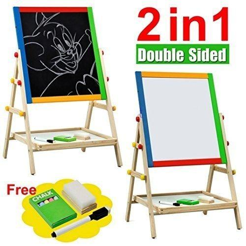 Double-Sided Blackboard And Whiteboard Easel (full Set) X 3 Sets By M Living Home Furnishing.