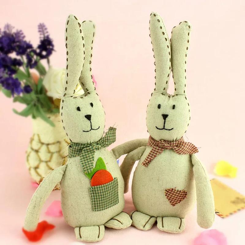 Cute Decorative Rabbit Weighted Interior Door Stopper Door Stop Set of Two