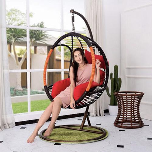 JIJI Riks Swing Chair (Outdoor Seating / Swing Chair) with cushions (Free Installation) - Balcony Swing chair/Relax Chair/ Lounge Chair/ Furniture (SG) Free Delivery