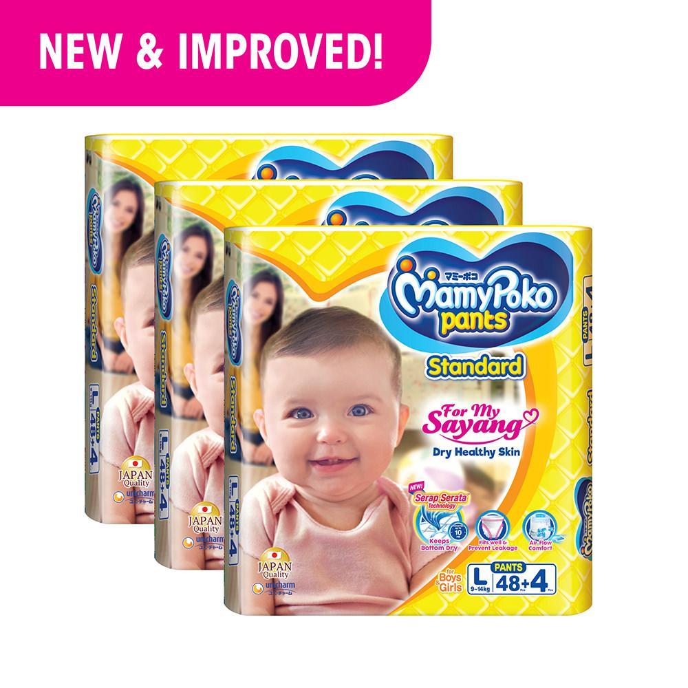 Mamypoko Pants Standard L48 4 3 Pack Best Price