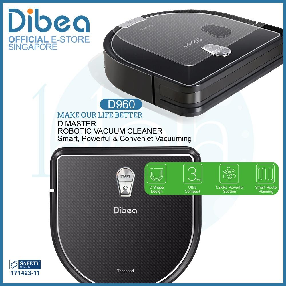 [Official Dibea Singapore] D960 Robot Vacuum Cleaner + Water Tank Wet Mopping