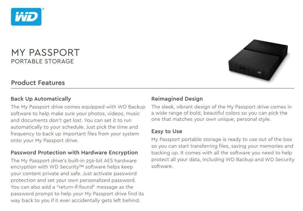 Western Digital 2TB My Passport Blue Ext HDD External Hard disk WD (SG Set)  Singapore