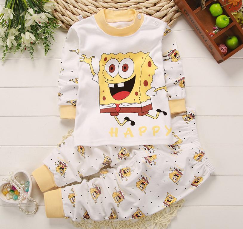 Bear Fashion Baby Boys Cartoon Amimal Monkey Casual Clothing Kids 2Pcs Long Sleeve Top + Pant