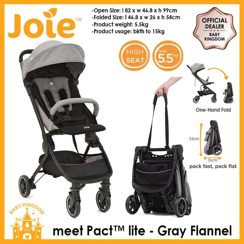 Joie Pact Lite Stroller w/RC & TB (Lychee Red / Gray Flannel) Singapore