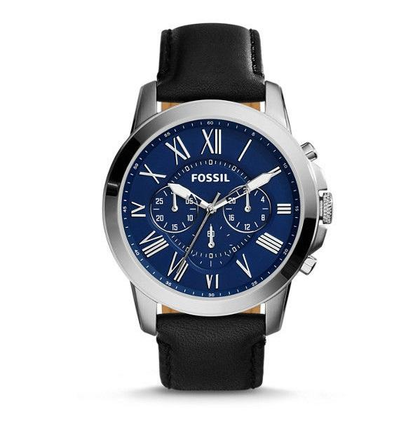 Fossil Fs4990 Grant Chronograph Blue Dial Black Dial Mens Watch By Luxolite.