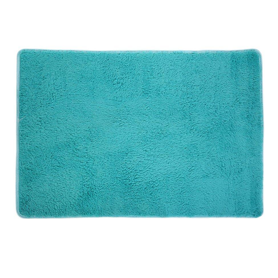 OH New House Living Room Bedroom Carpet Anti-Skid Shaggy Area Rug Floor Mat Blue