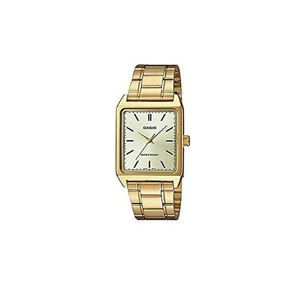 Purchase Casio Men S Analog Golden Colour Stainless Steel Strap Watch Mtp V007G 9E Online