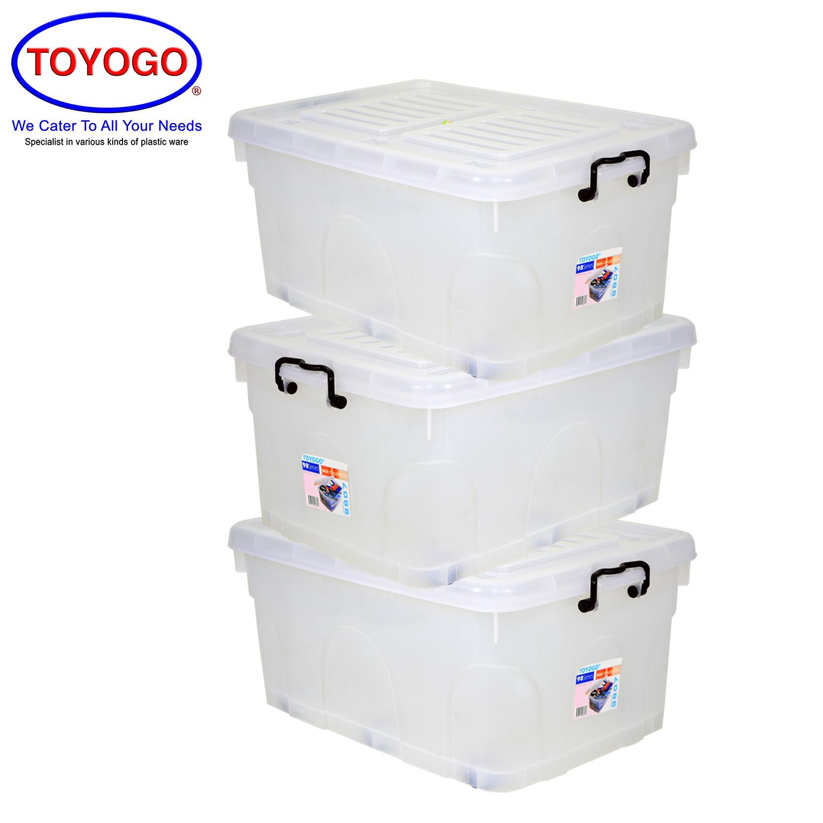Toyogo Storage Box With Wheels (Bundle of 3) (9807)