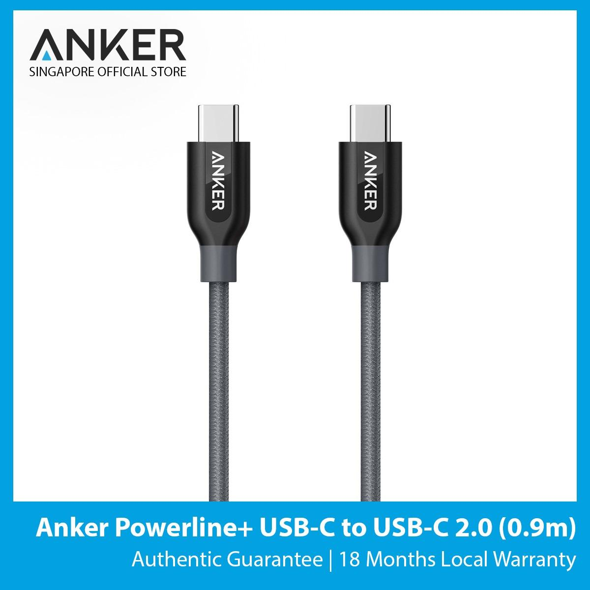 Buy Anker Powerline Usb C To Usb C 2 3Ft 9M Cheap Singapore
