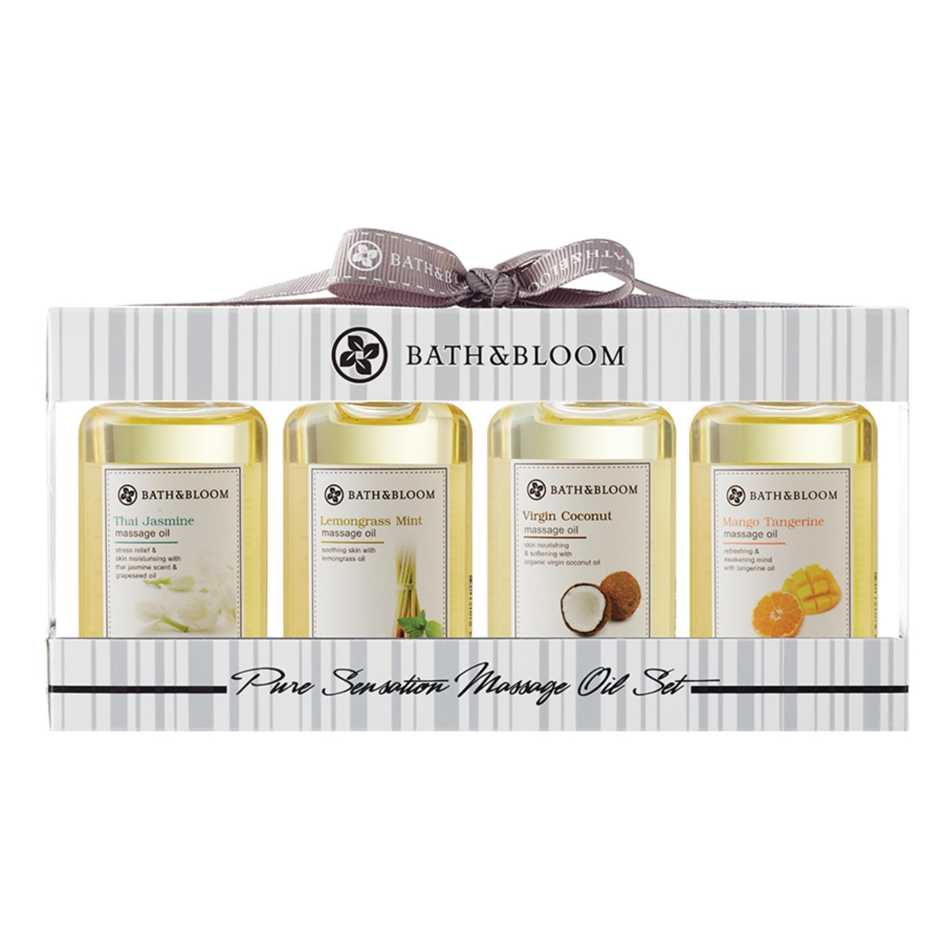 Bath And Bloom Pure Sensation Massage Oil Set Free Shipping