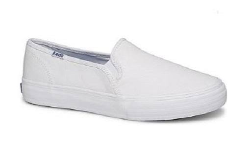 49b8e557198 Keds Double Decker Leather Women Slip-on Sneakers White (WH59799)