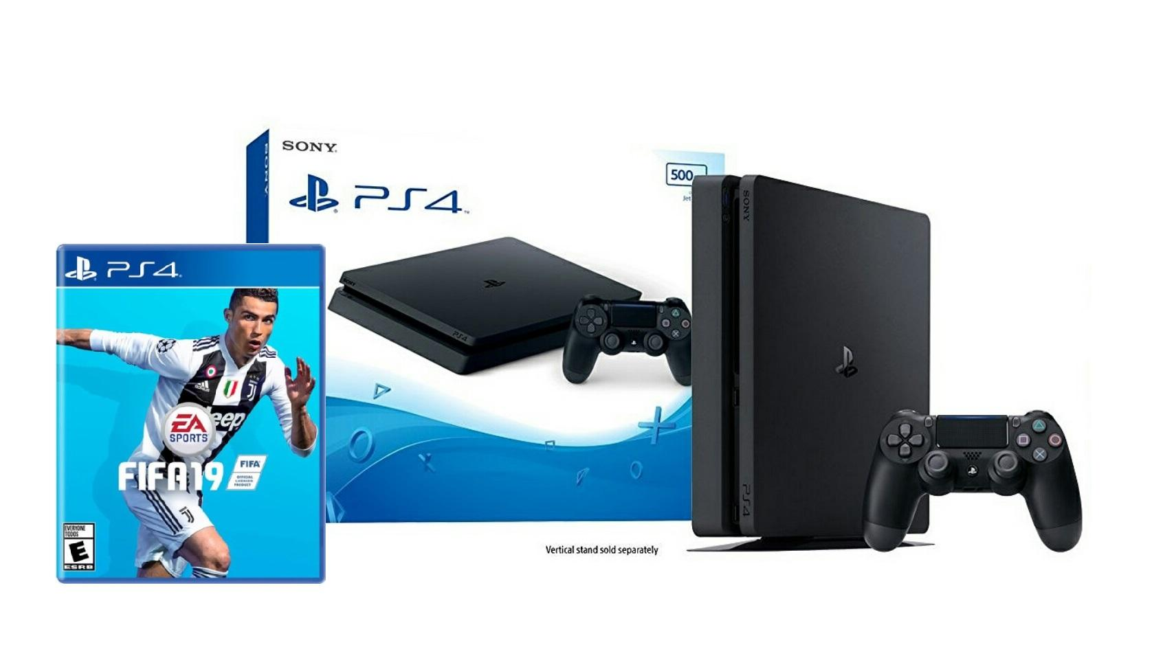 Latest Sony Playstation Consoles Products Enjoy Huge Discounts 4 Ps4 500gb Black New Slim Console Fifa 19