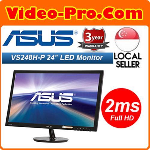 "GTG ASUS VS248H-P Black 24/"" 2ms HDMI Widescreen LED Backlight LCD Monitor"