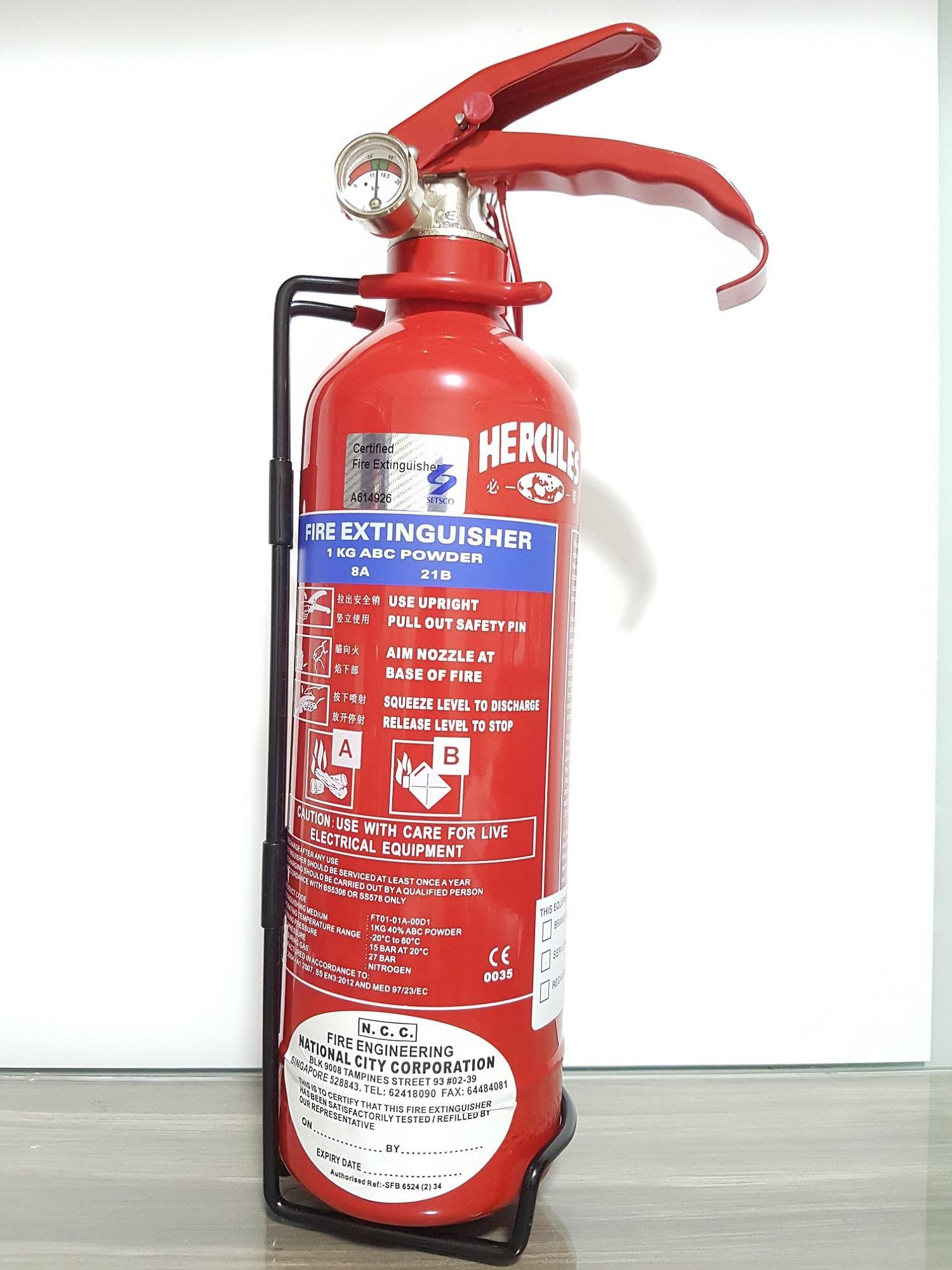 1KG ABC Powder Type Fire Extinguisher with 1 year warranty