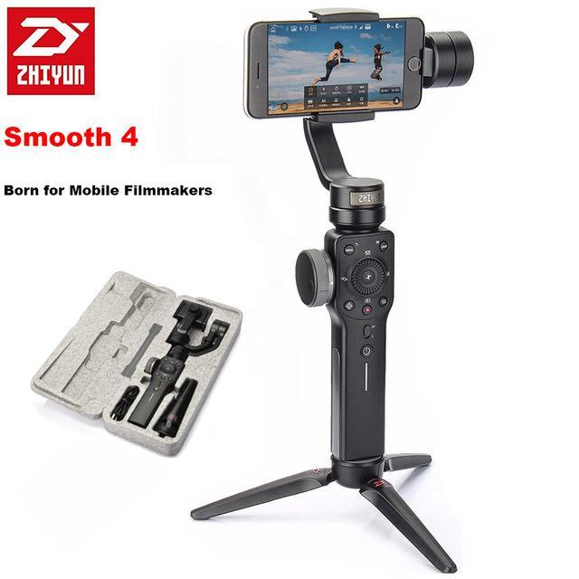 Retail Zhiyun Tech Smooth 4 Smartphone Gimbal 3 Axis Stabilizer Vlogging Filmmaking