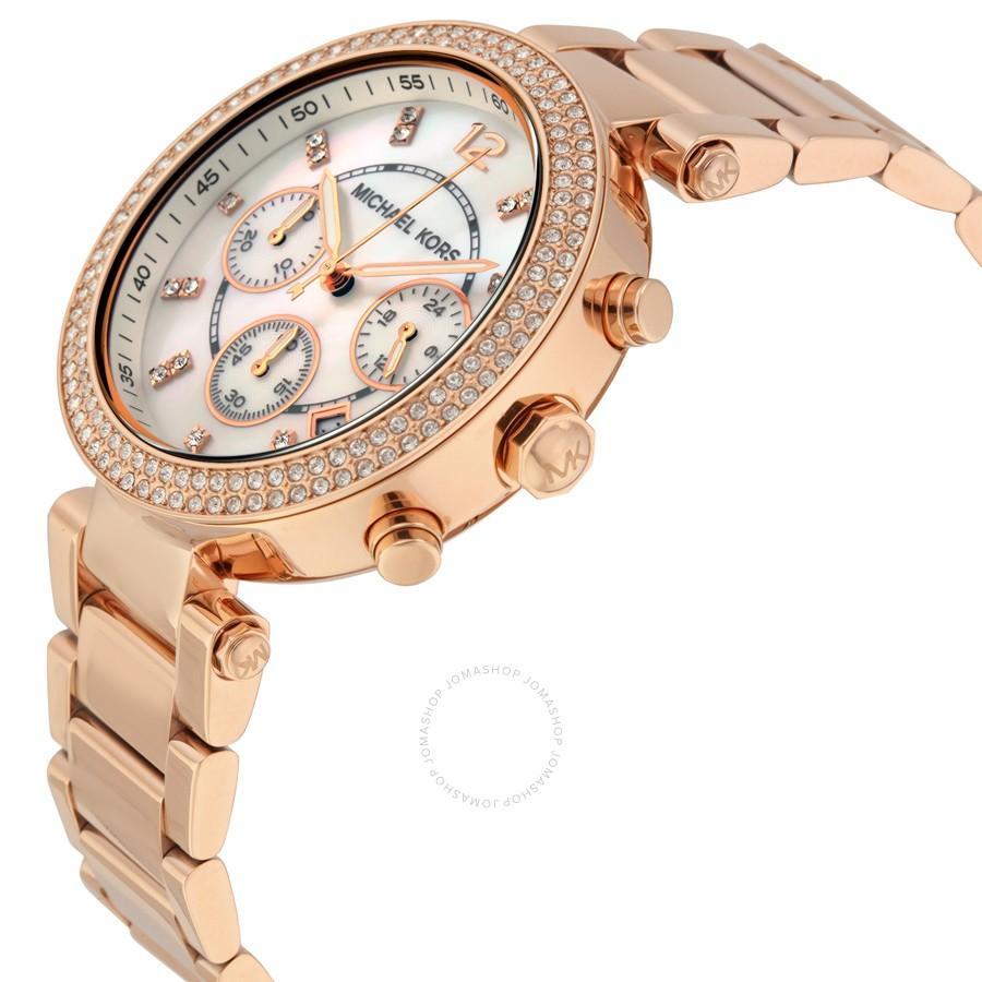 7dc408e96 Michael Kors MK5491 Parker Chronograph Rose Gold-tone Women's Watch