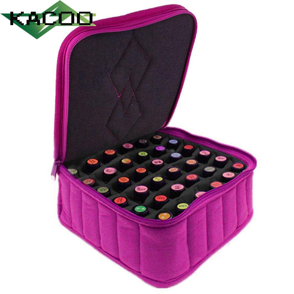 6a08dac5547f Makeup Bag Organizer 30 Pockets Of Essential Oil Bottles Polish Travel Pouch